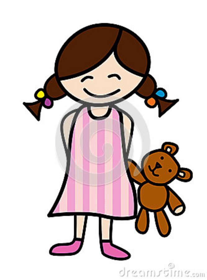 Girl Putting On Pajamas   Clipart Panda   Free Clipart Images