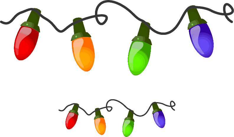 Holiday christmas clipart clipart suggest for Clip lights for crafts