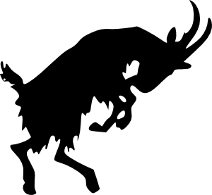Jumping Goat Clip Art At Clker Com   Vector Clip Art Online Royalty