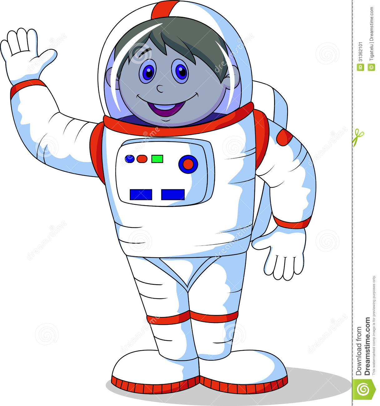 Kid Astronaut Clipart Cute Astronaut Cartoon