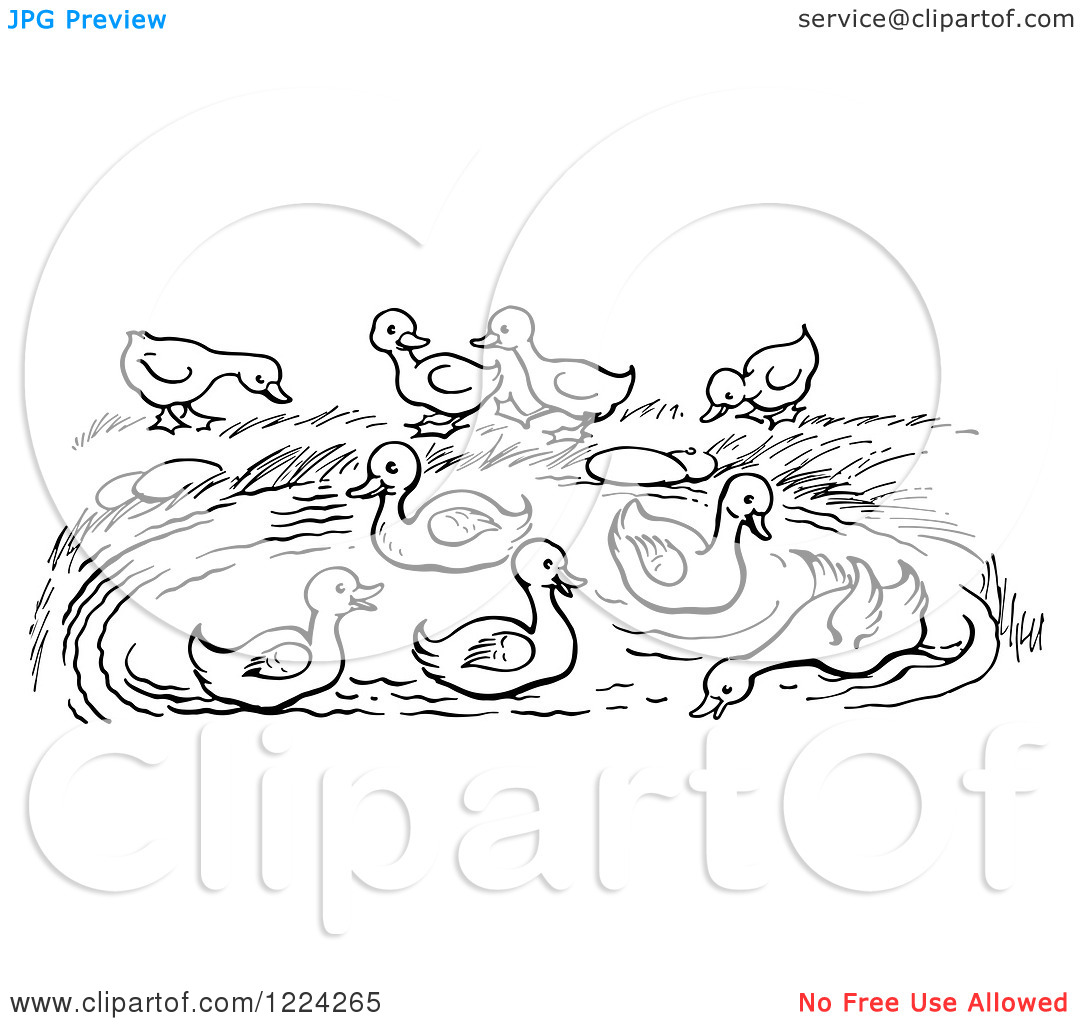Lake Clipart Black And White Clipart Of A Black And White