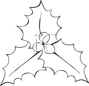 Lake Clipart Black And White Holly And Berries In Black And White