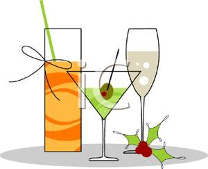 Mixed Drinks   Royalty Free Clipart Picture