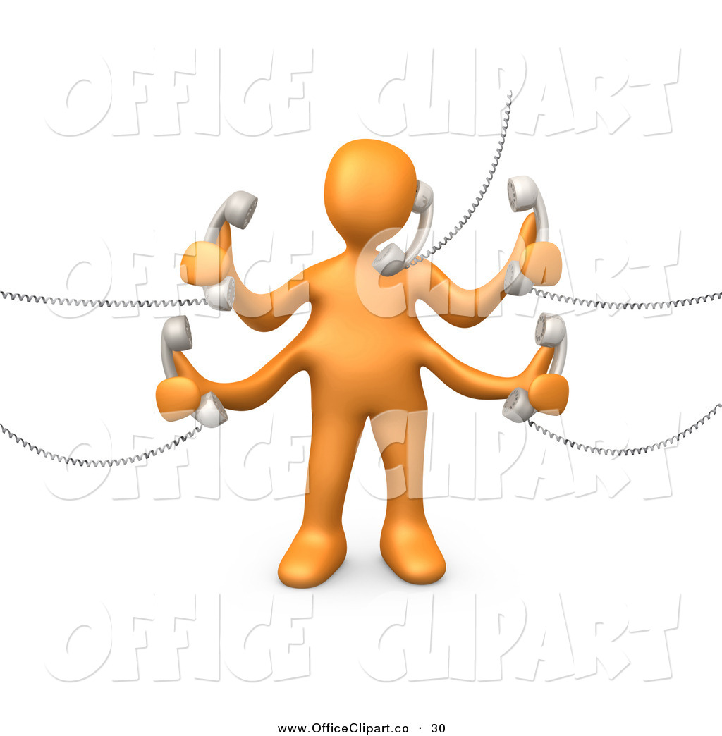 Office Work Clipart Clip Art Of A Busy Orange
