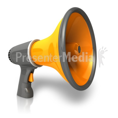 Single Bullhorn   Presentation Clipart   Great Clipart For