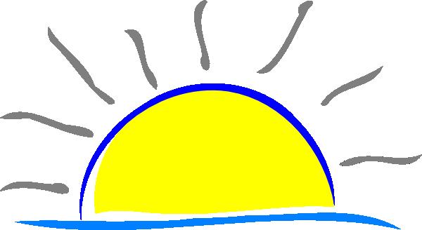 Sunset Clip Art Vector