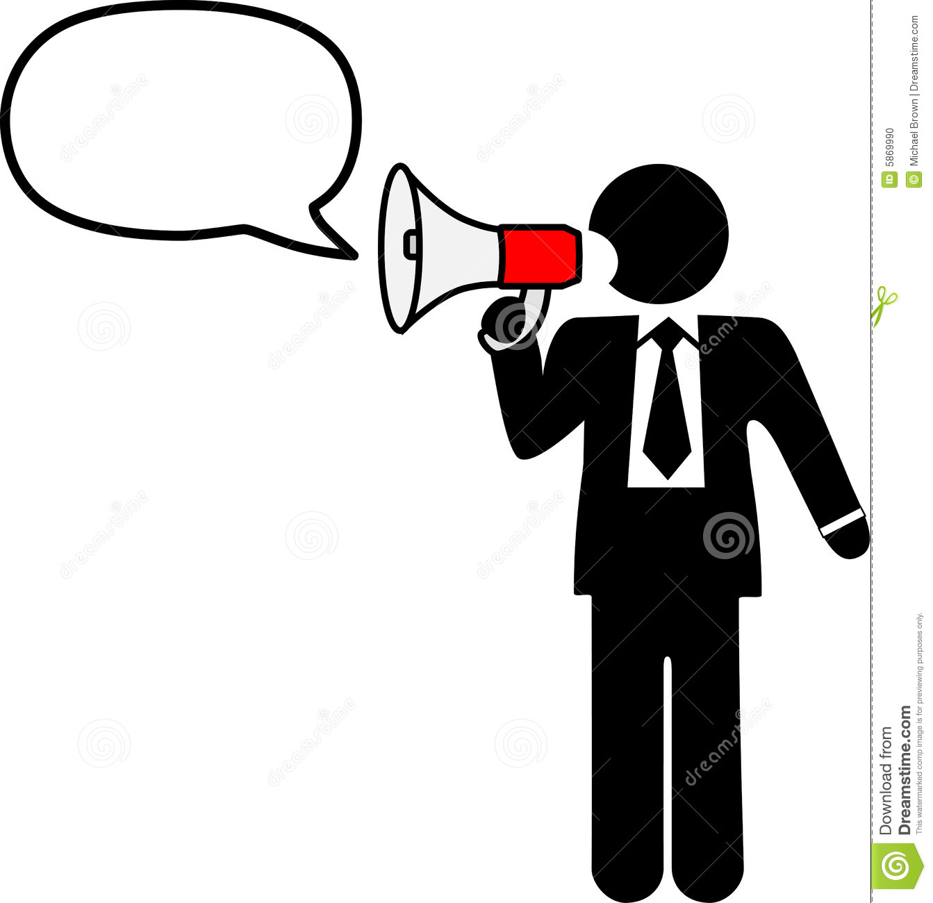 To Broadcast Talk An Ad Announcement Communication In A Bullhorn