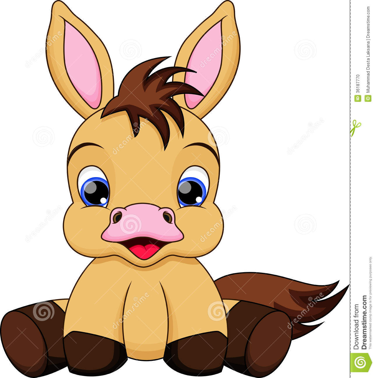 Pony Cartoon Clipart - Clipart Kid