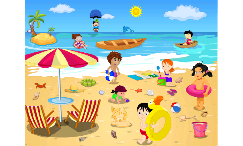 Beach Fun Clipart - Clipart Kid