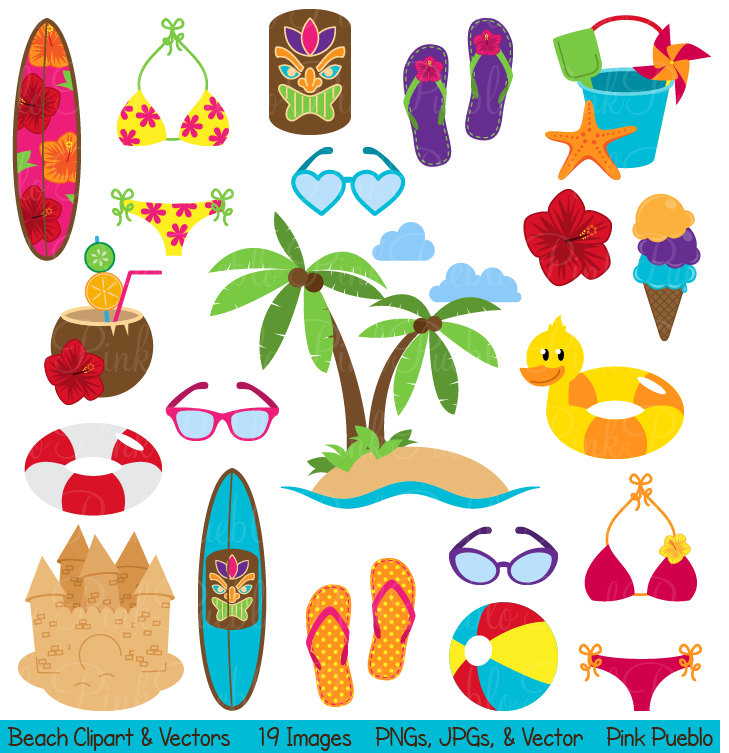 Summer Theme Clipart - Clipart Kid