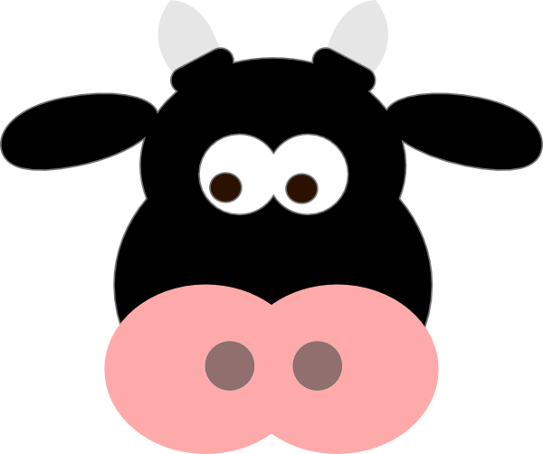 Black Cow Face Clip Art At Clker Com Vector Clip Art ...