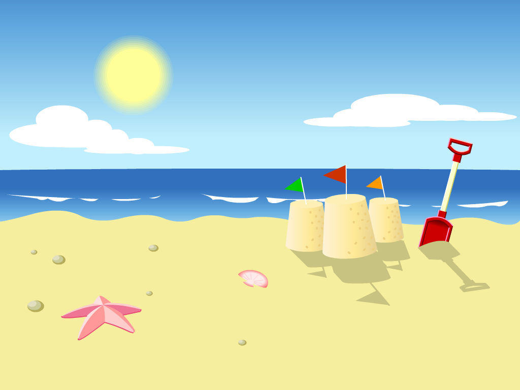cartoon beach background clipart clipart suggest Footprints On the Beach free clipart images beach umbrella
