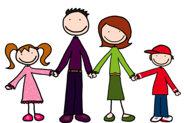 Cartoon Family Holding Hands   Free Images At Clker Com   Vector Clip