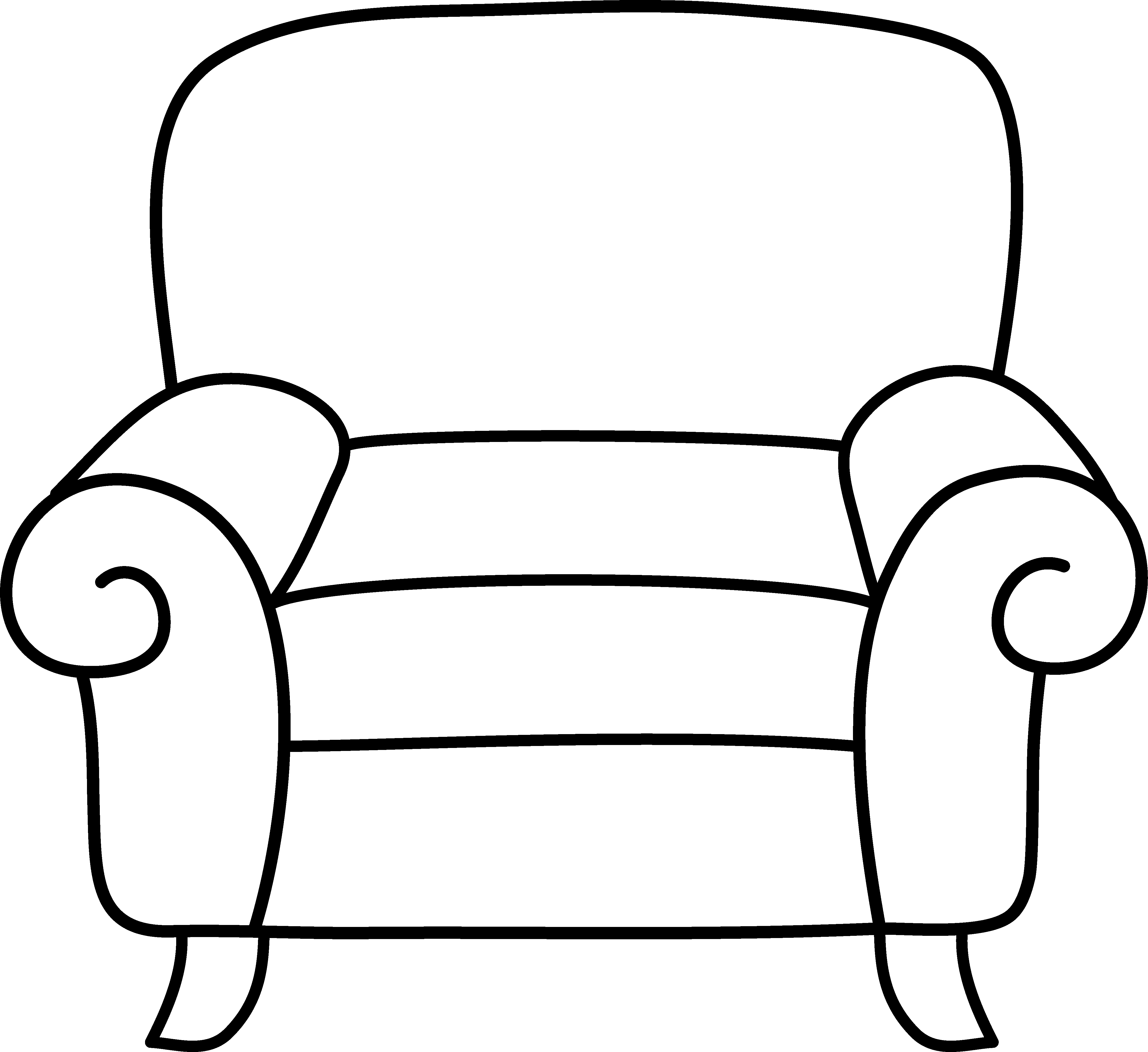 Clip Art Black And White Couch Clipart Clipart Suggest