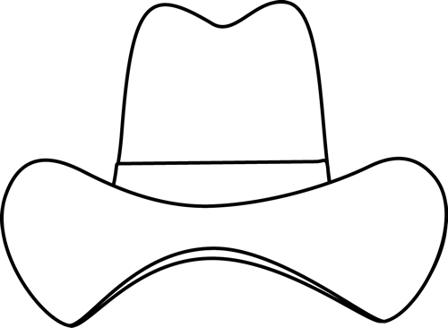 Cowboy Hat Clipart Simple Cowboy Hat Black White Png