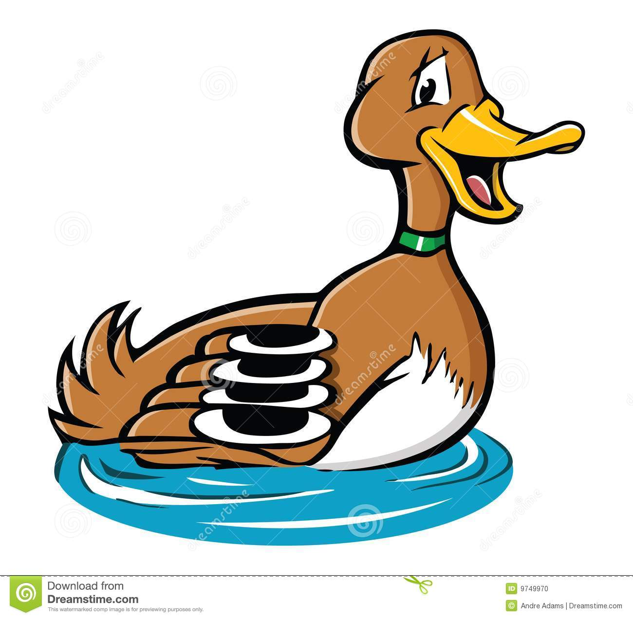 Cute Duck In Pond Clipart   Cliparthut   Free Clipart