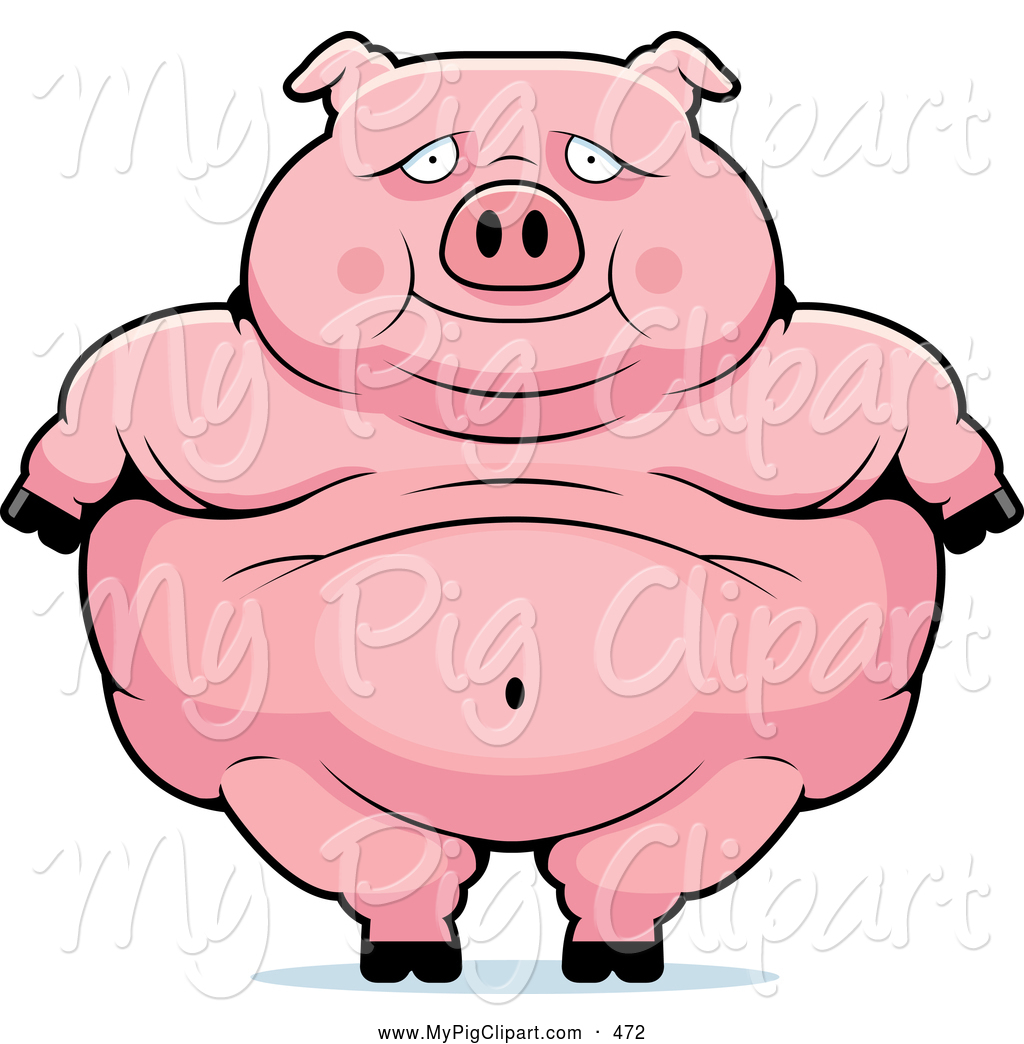 Cute Obese Pig Standing Pig Clip Art Cory Thoman