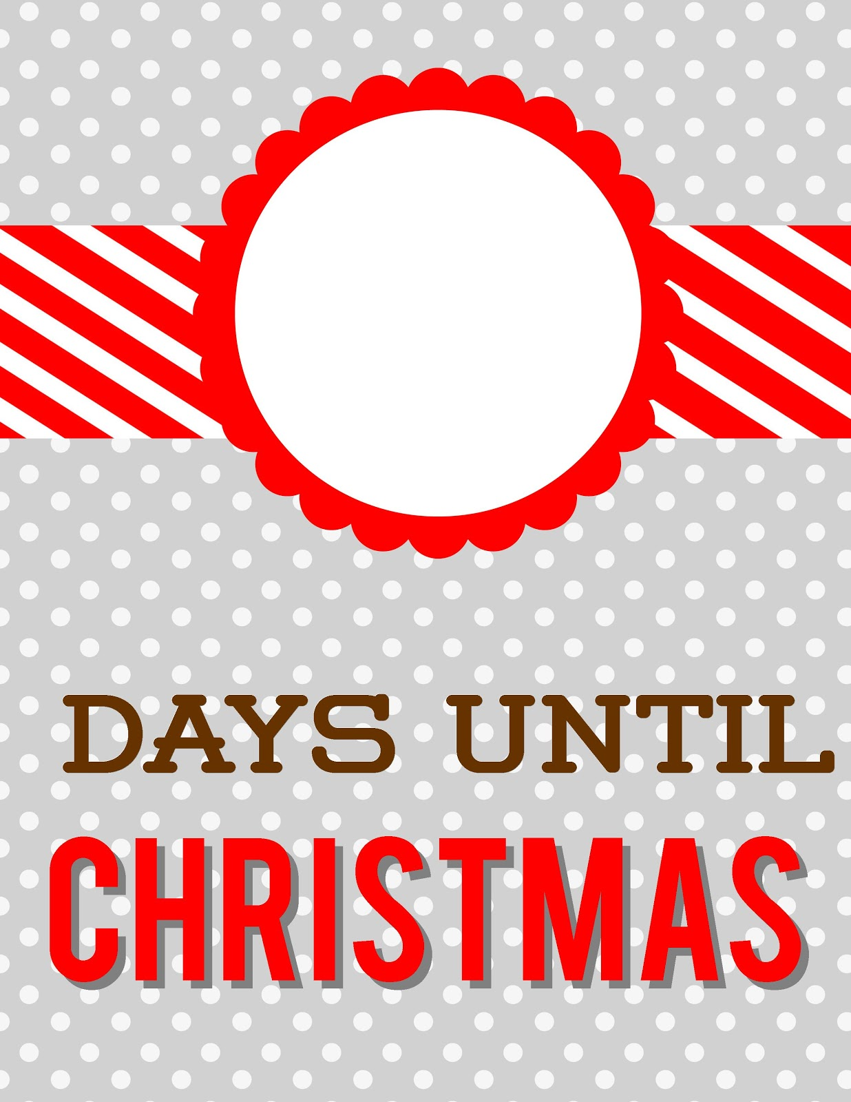 Detail Oriented Diva   Days Until Christmas Dry Erase Countdown