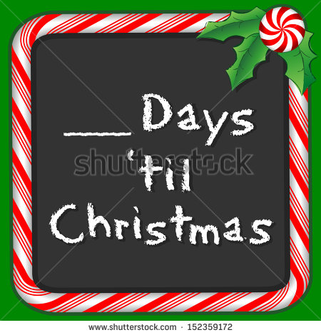 Down Until Christmas Blackboard  Fill In The Blank To Count The Days