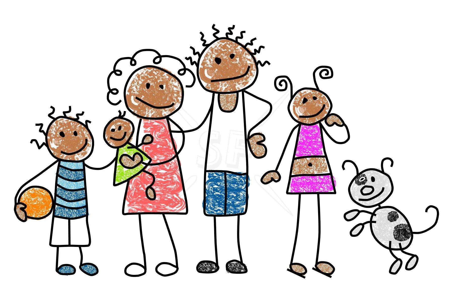 Family Member Mix N Match Stick Figures Clip Art   Stick Figures Clip