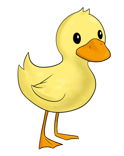 Free Cartoon Yellow Duckling Clip Art