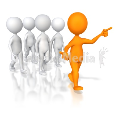 Group Leader   3d Figures   Great Clipart For Presentations   Www