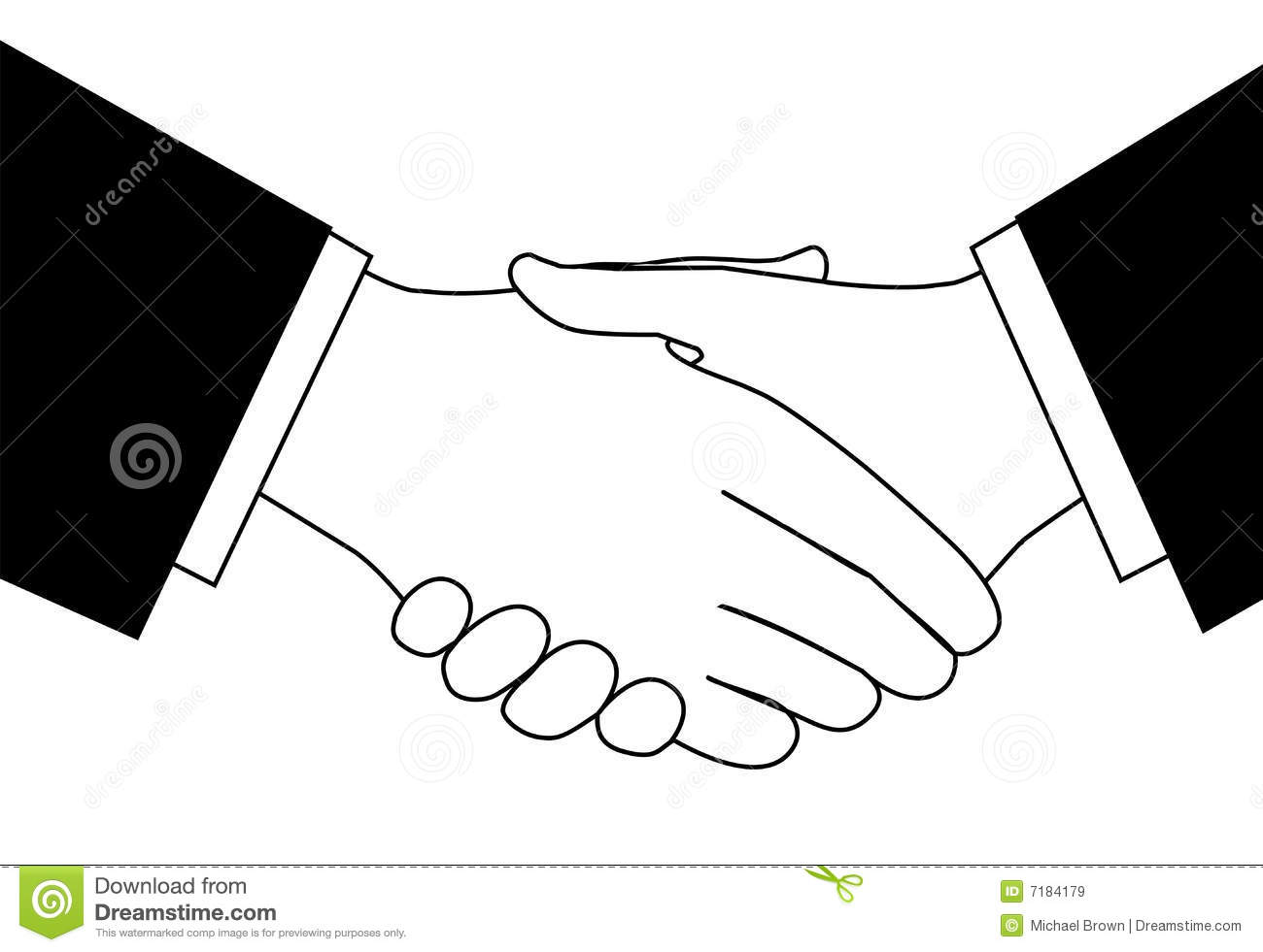 Handshake Clipart Sketch Of Business People Shaking Hands To Meet Or