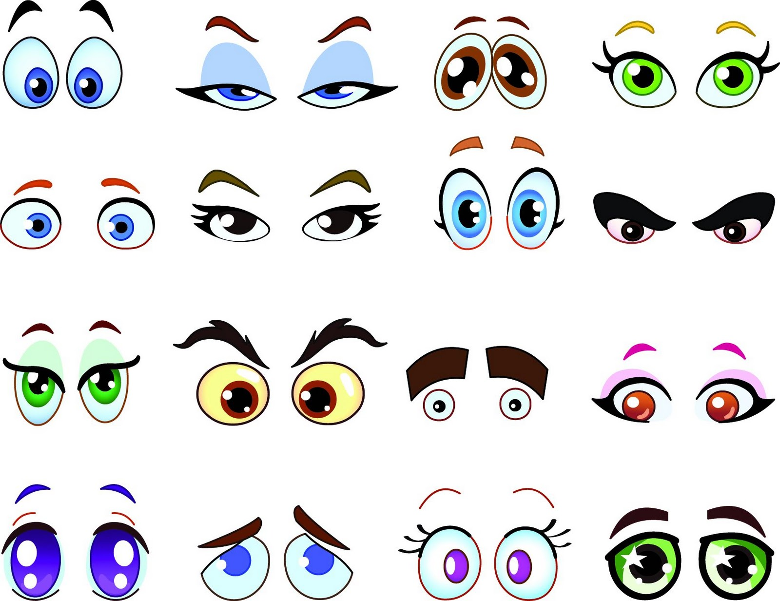 Happy Delicious Stuff  Clip Art   Cartoon Eyes