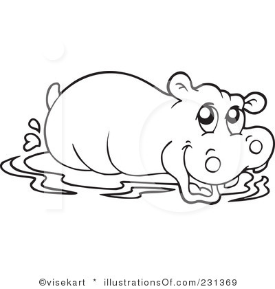 Hippo Clipart   Item 4   Vector Magz   Free Download Vector Graphics