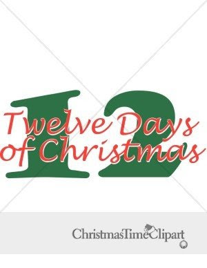 Labels  12 Days Christmas  Clipart