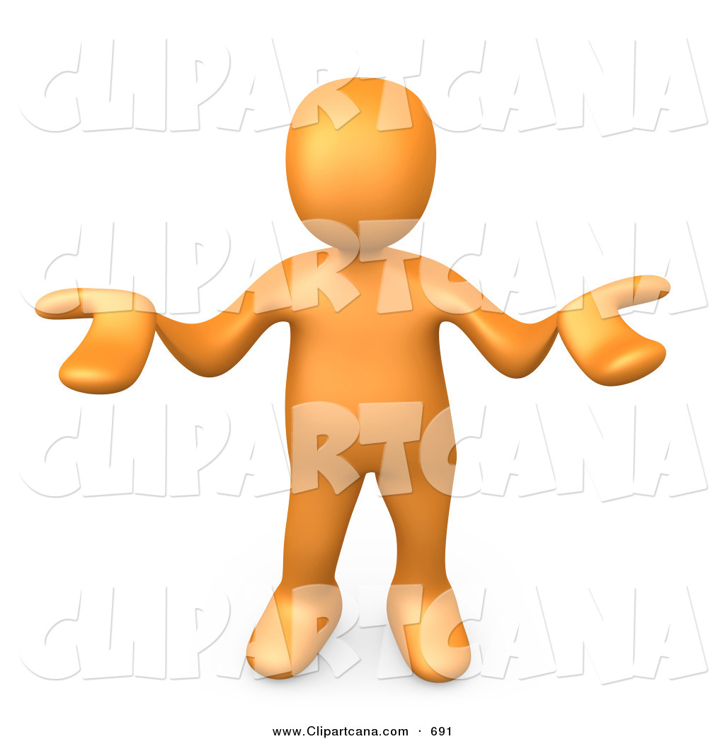 Nice People Clipart Clip Art Of A Shrugging Orange