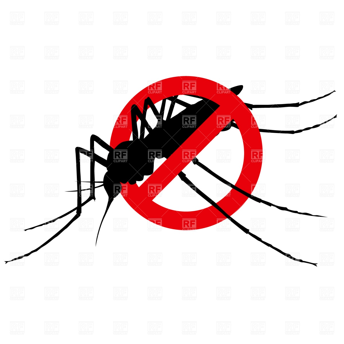 No Mosquito Sign Download Royalty Free Vector Clipart  Eps
