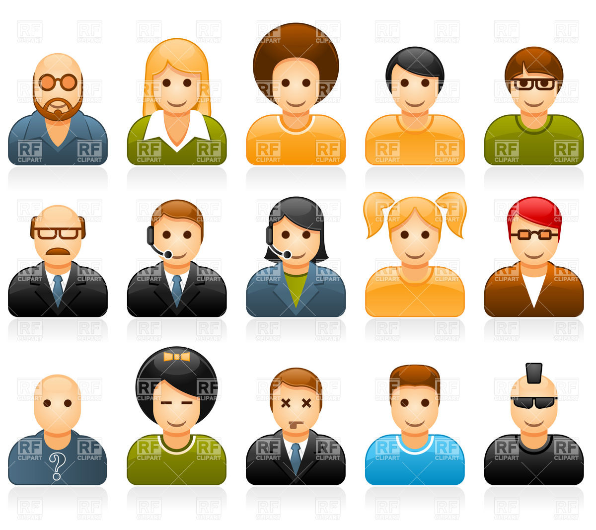 People Being Nice To Other People Clipart Glossy People Avatars With