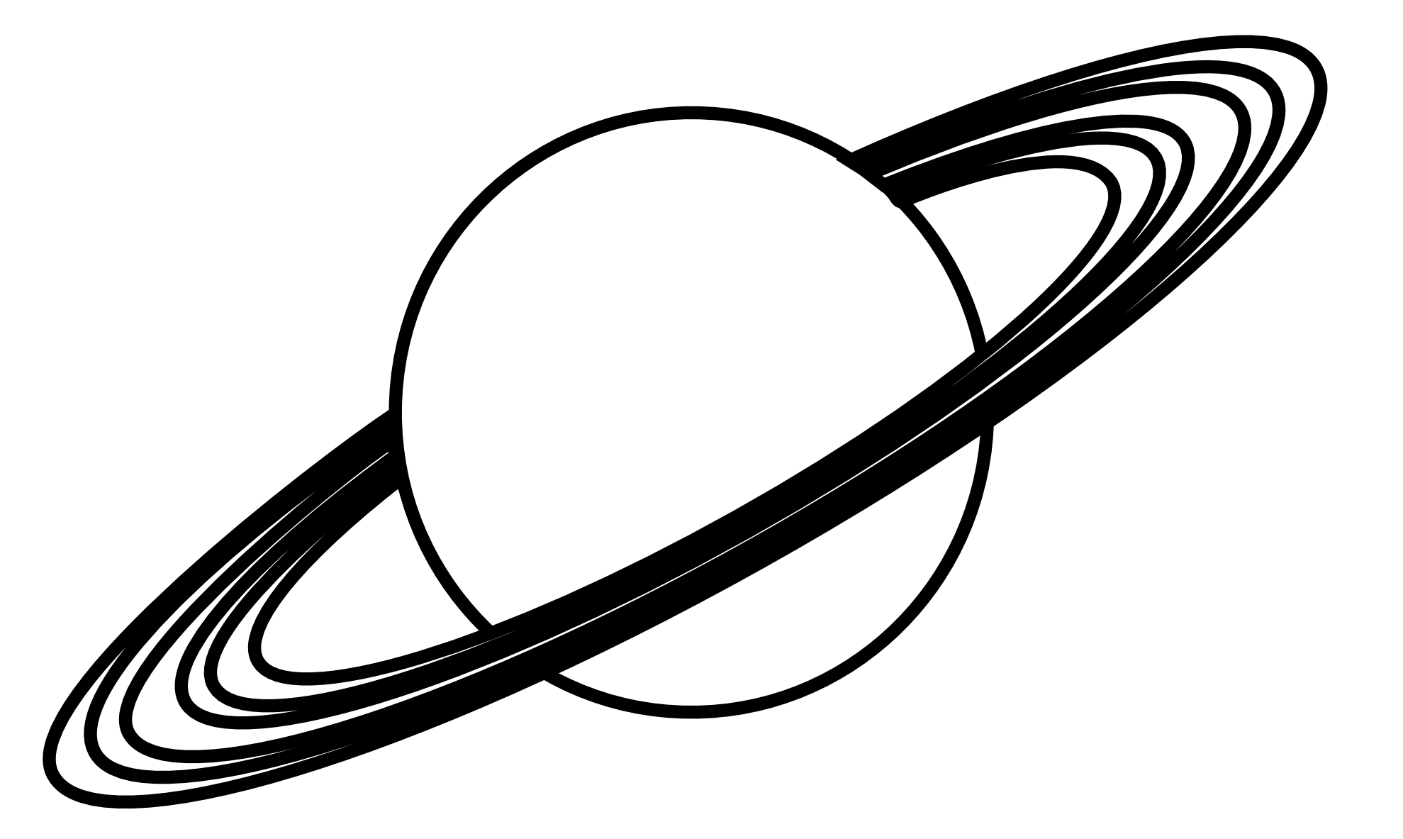 Line Art Name : Planet with names clipart suggest