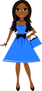Pretty Clip Art Pretty Young African American Debutante In A Pretty
