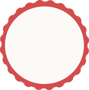 Red Ivory Scallop Circle Frame Clip Art At Clker Com   Vector Clip Art