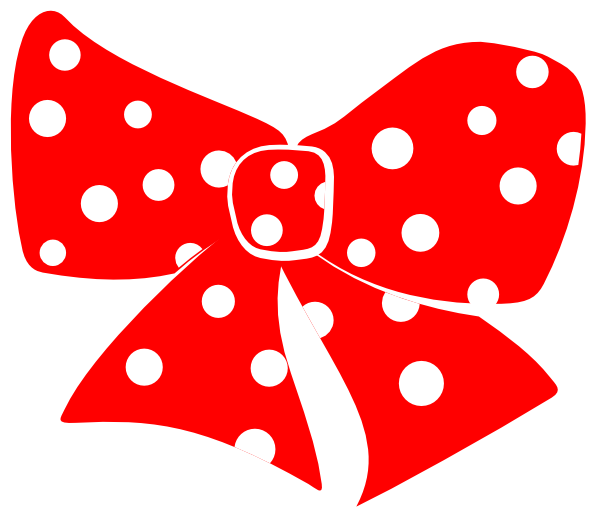 Red Minnie Mouse Bow Clip Art Red Bow With White Polka Dots Hi Png