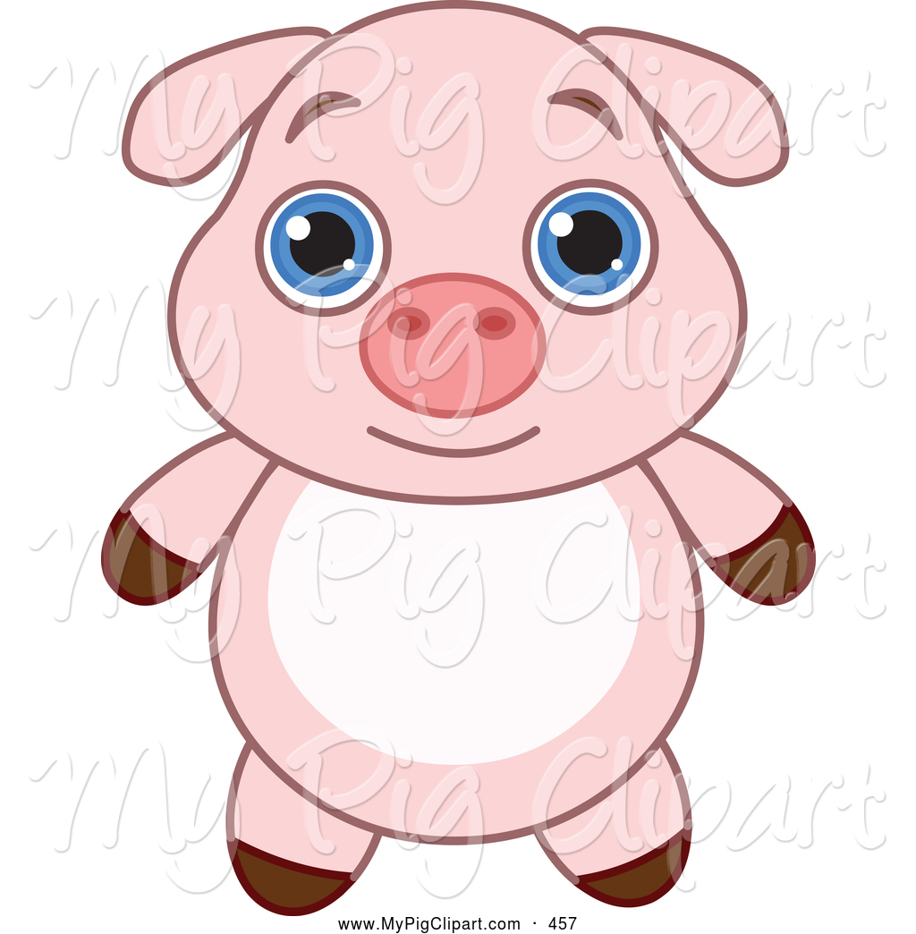 Royalty Free Cute Animal Stock Pig Clipart Illustrations