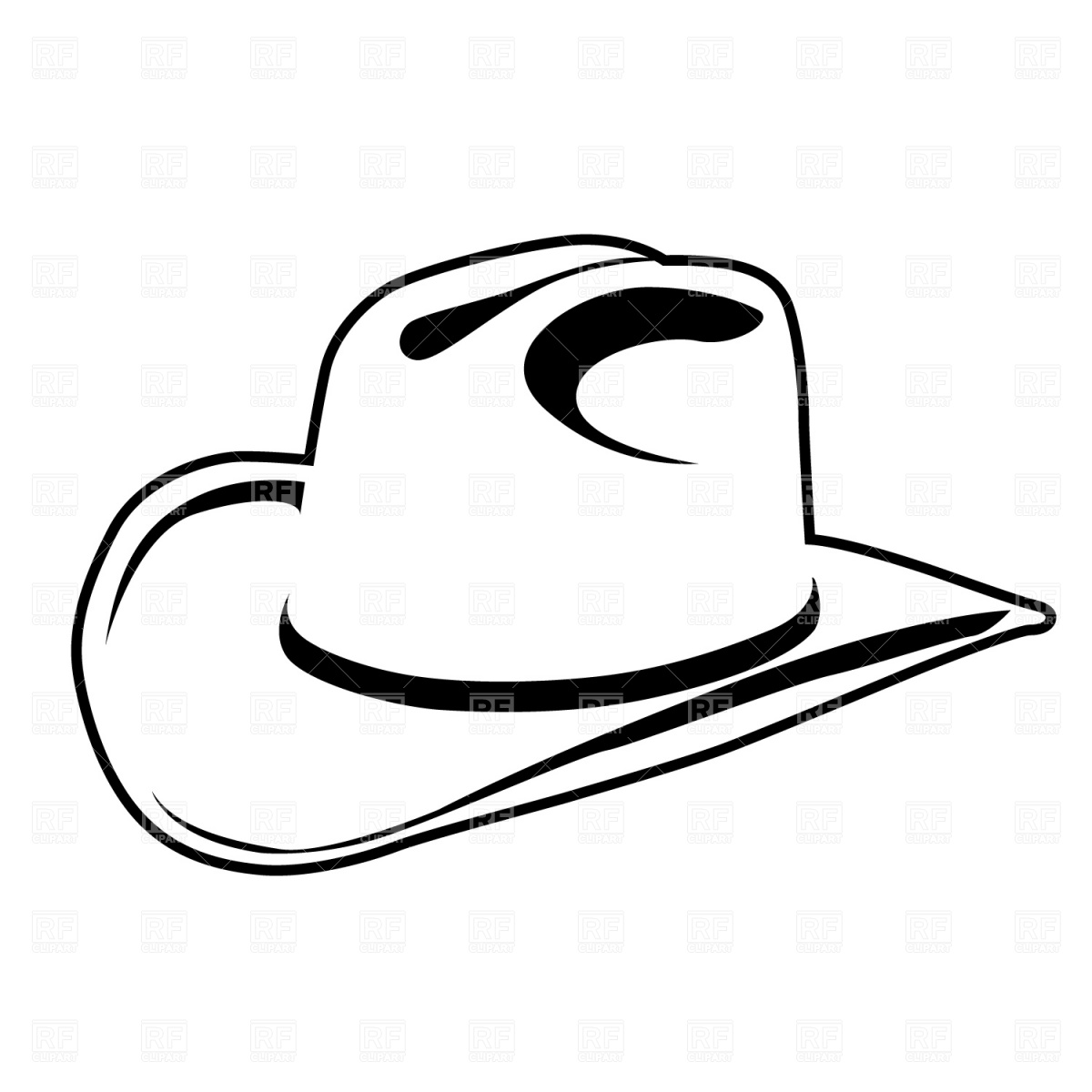 Simple Cowboy Hat Download Royalty Free Vector Clipart  Eps