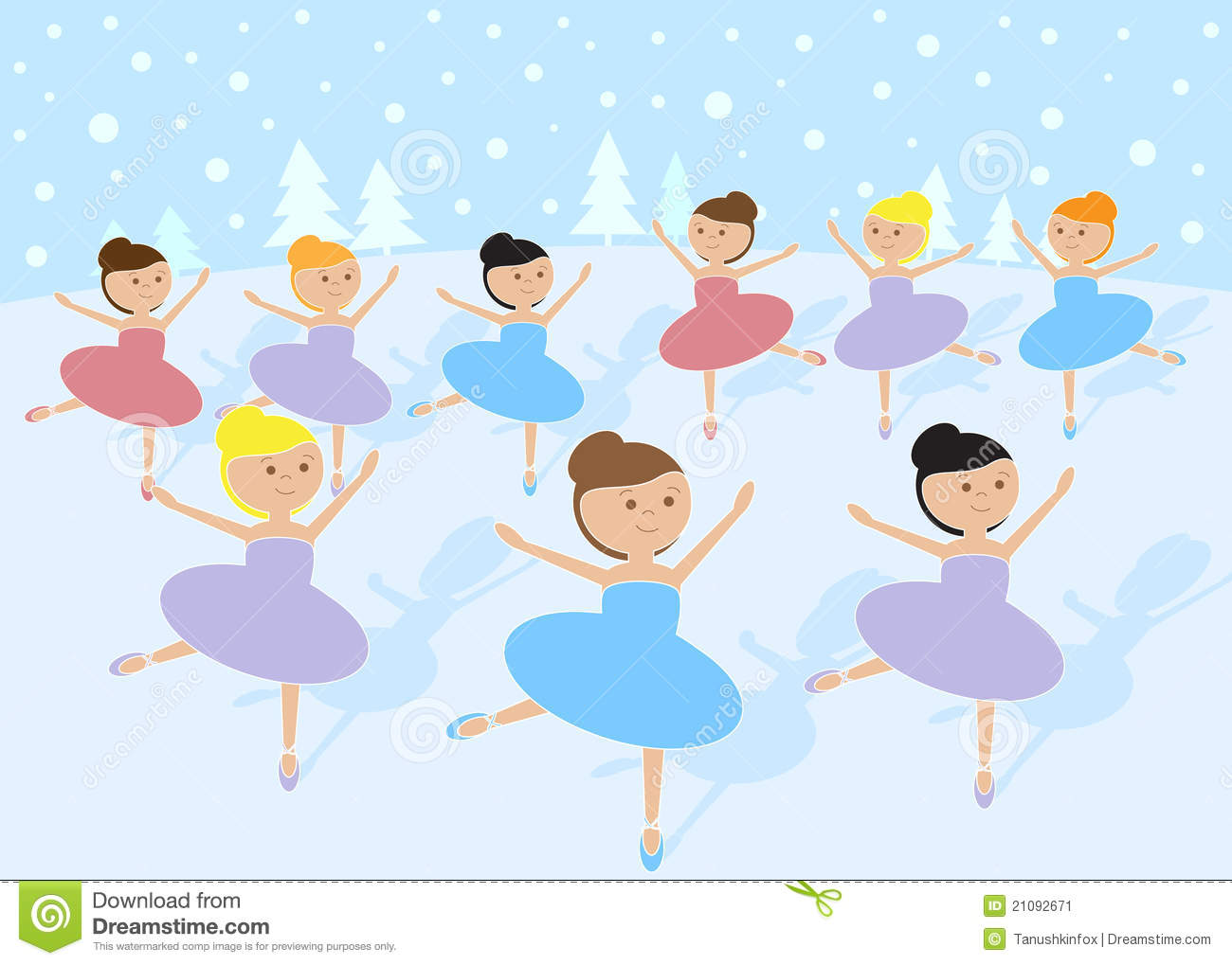 Stock Image  12 Days Of Christmas  9 Ladies Dancing