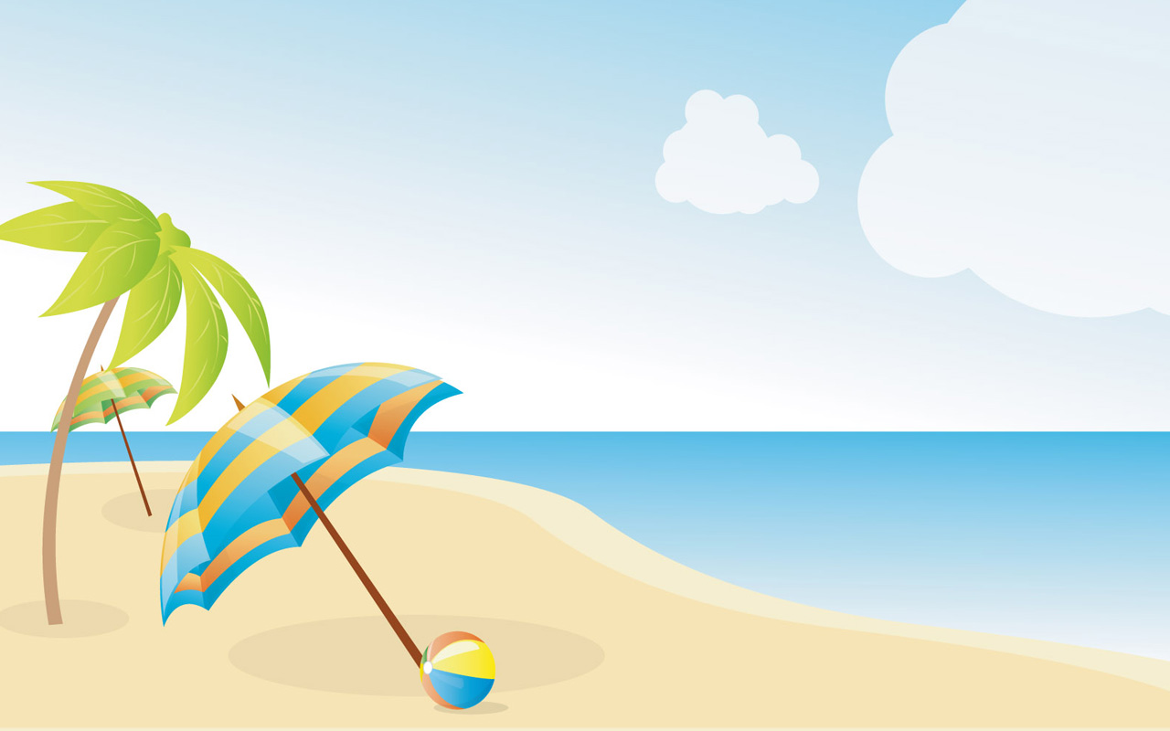 Summer Beach Border Clipart - Clipart Kid
