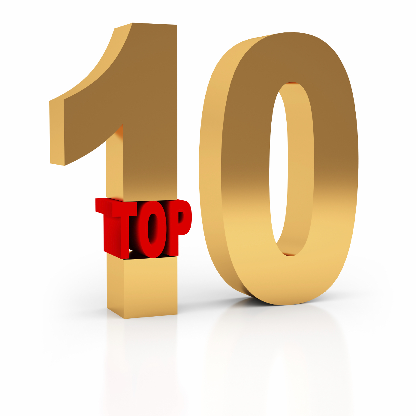 Top 10 Winner 3d Symbol Isolated