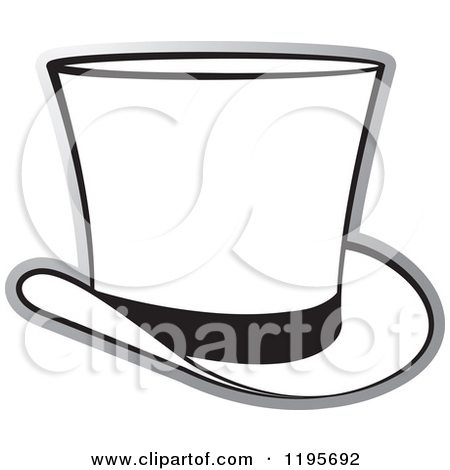 Top Hat Clipart 1195692 Clipart Of A Grayscale Top Hat Royalty Free
