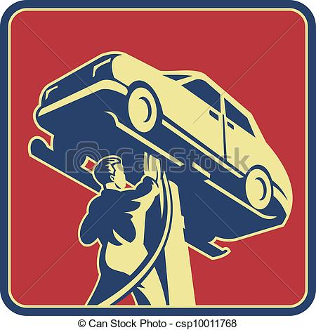 Car Repair Retro   Illustration Of A    Csp10011768   Search Clipart