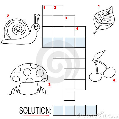 Crossword Puzzle For Kids Part 1 Stock Photography   Image  17250952