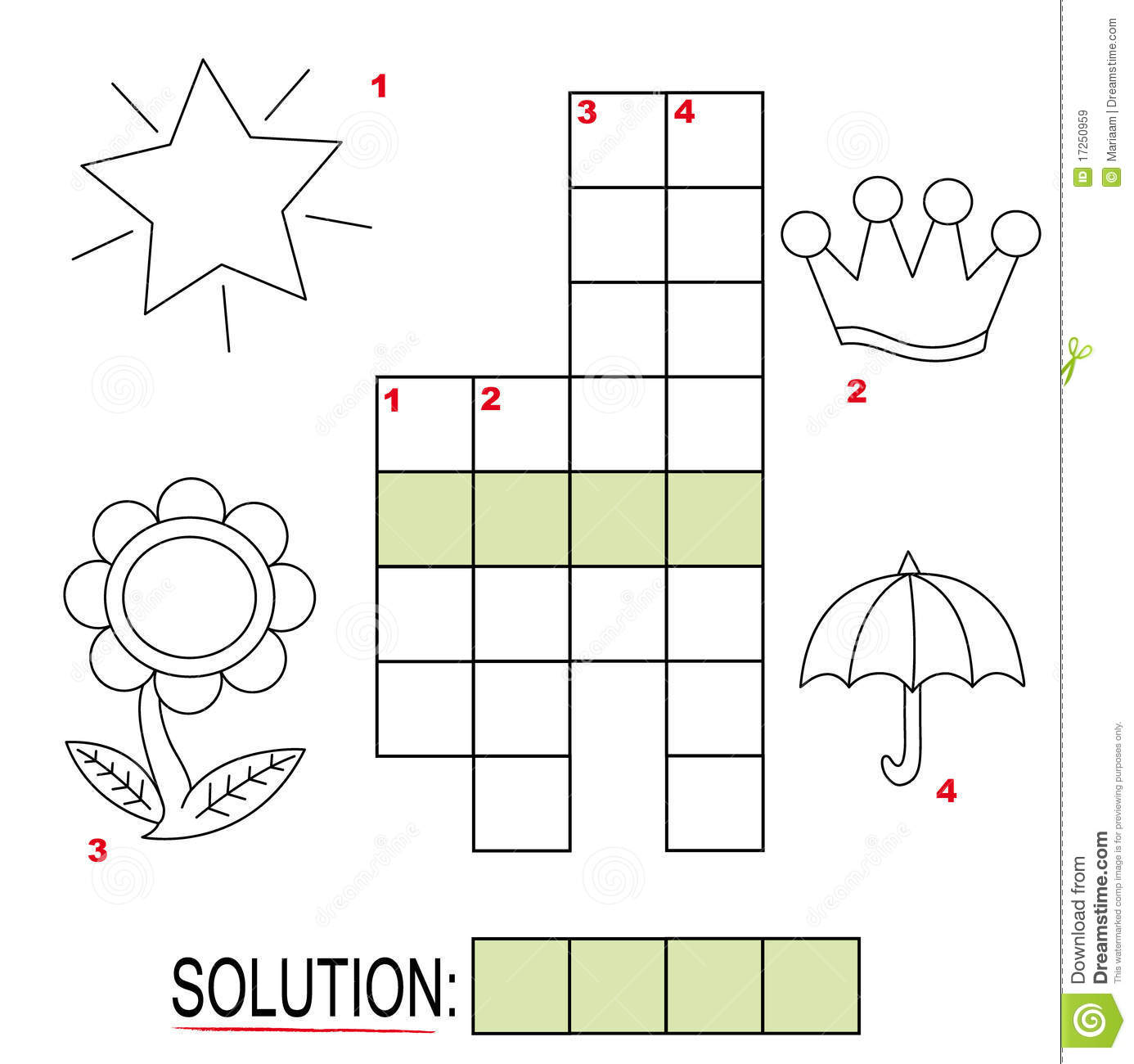Crossword Puzzle For Kids Part 3 Royalty Free Stock Images   Image