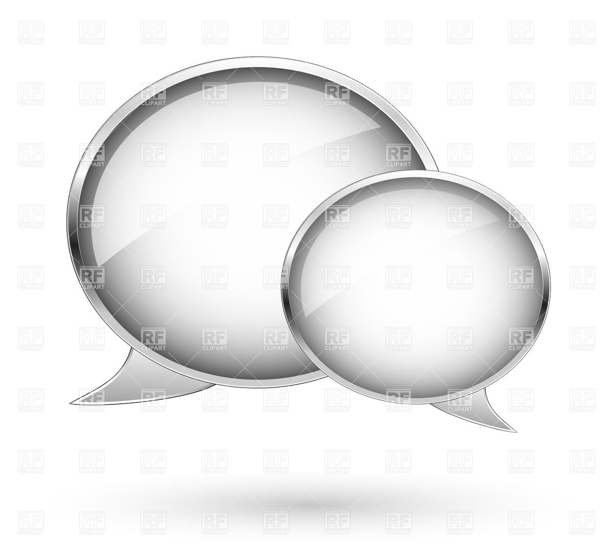 Dialogue Bubbles Download Royalty Free Vector Clipart  Eps