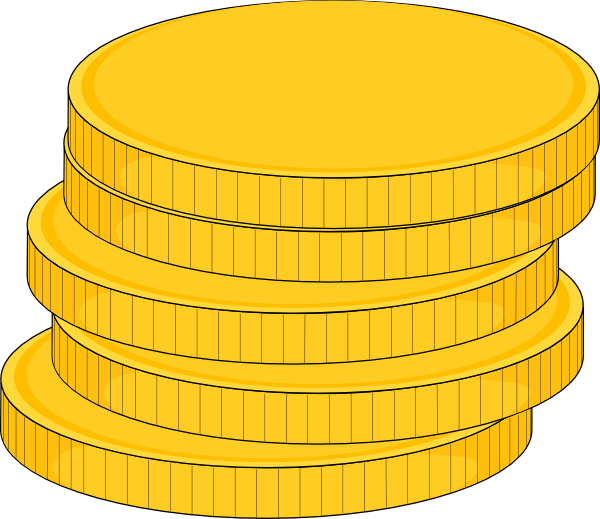 Money Stack Of Coins Clip Art