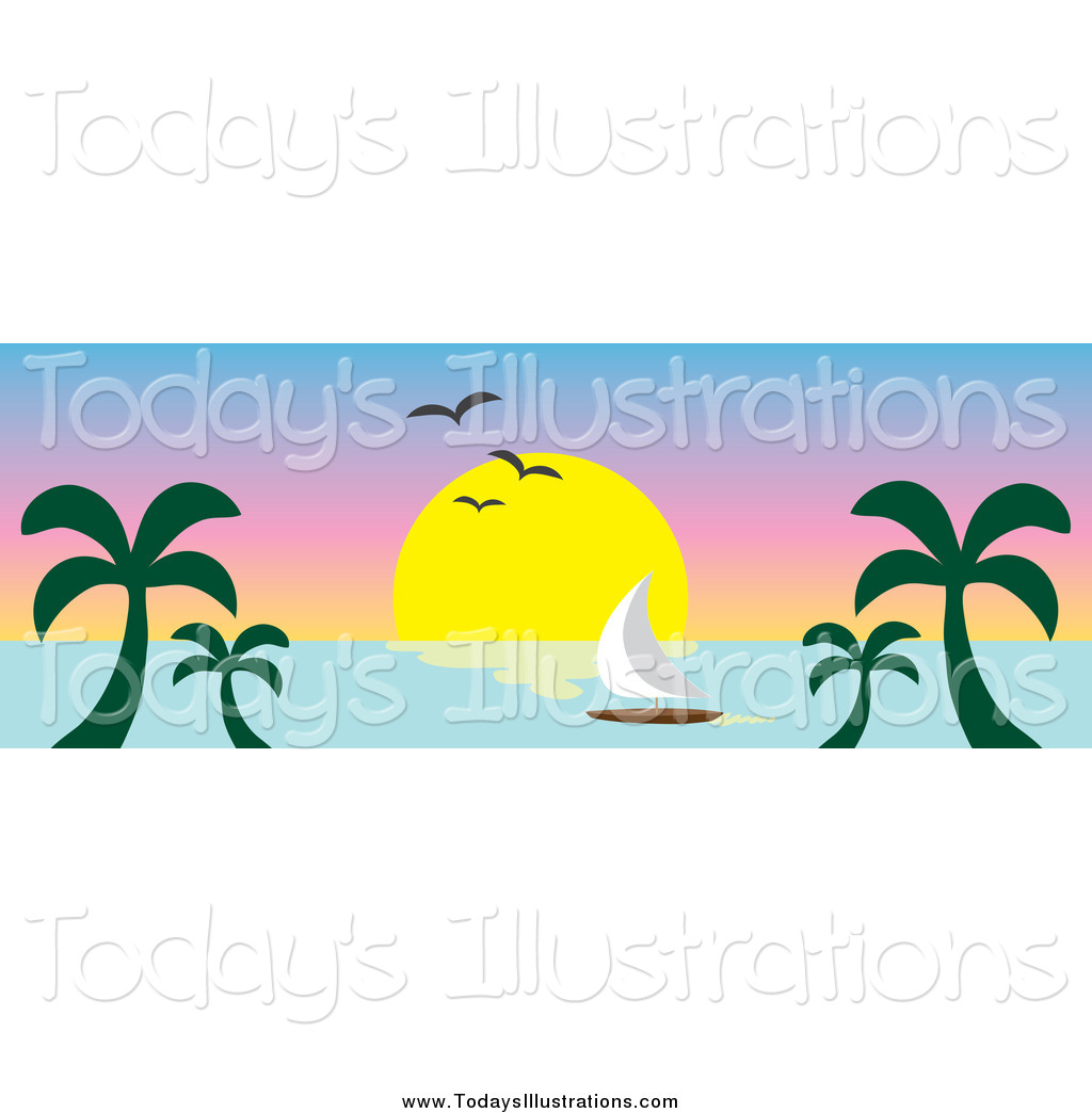 Ocean Sunset Clipart New Clipart   New Stock New