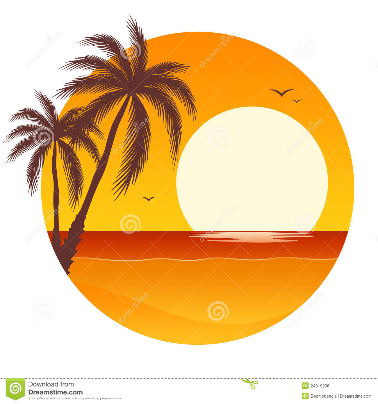 Ocean Sunset Clipart Palm Tree Sunset Clipart Sunset Palm Trees